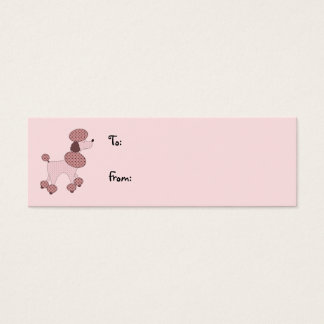 Pink Poodles On Parade Gift Tag