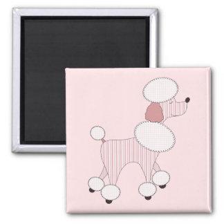 Pink Poodles On Parade Magnet