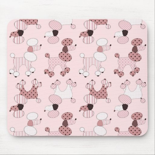 Pink Poodles On Parade Mousepad