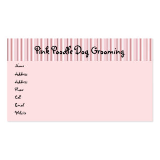 Pink Poodles On Parade Profile Card Double-Sided Standard Business Cards (Pack Of 100)