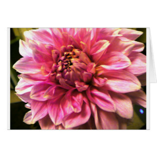Pink Poof Greeting Card