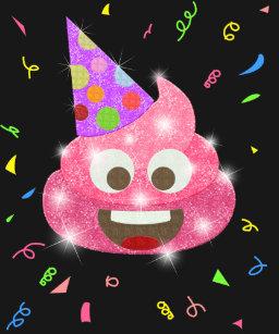 Pink Poop Funny Kids Emoji Birthday Party T Shirt