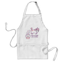 Pink Pooping Unicorn Adult Apron