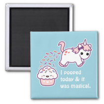 Pink Pooping Unicorn Magnet