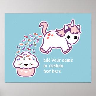 Pink Pooping Unicorn Poster