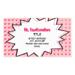 Pink Pop Art Business Card