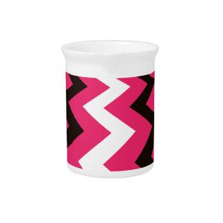 Pink Pop Art Chevron Beverage Pitchers