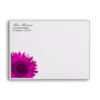 Pink Pop Art Flower Envelope