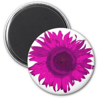 Pink Pop Art Flower 2 Inch Round Magnet