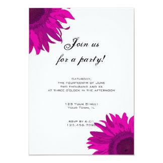 Pink Pop Art Flower Party Invitation