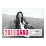 Pink Pop Modern Photo Graduation Party Card