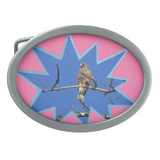 Pink Pop Out Photo Frame Oval Belt Buckle