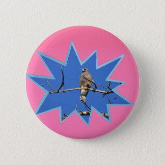 Pink Pop Out Photo Frame Pinback Button