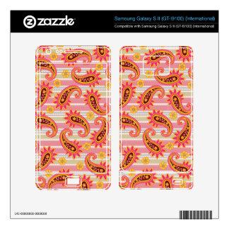 Pink Pop Paisley Pattern Samsung Galaxy S II Decal