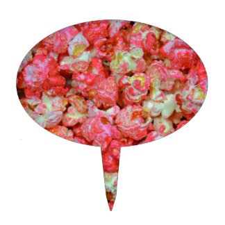 Pink popcorn cake topper