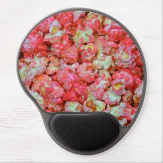 Pink popcorn gel mouse pad