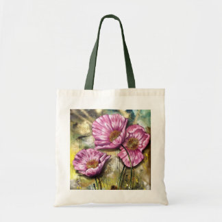 Pink Poppies Canvas Bags