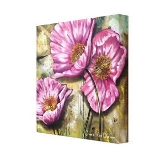 Pink Poppies by Cherie Roe Dirksen Canvas Print