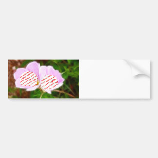 Pink Poppies Dual Photo Frame Car Bumper Sticker