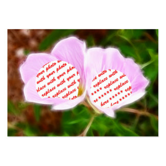 Pink Poppies Dual Photo Frame Large Business Cards (Pack Of 100)