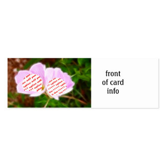 Pink Poppies Dual Photo Frame Double-Sided Mini Business Cards (Pack Of 20)