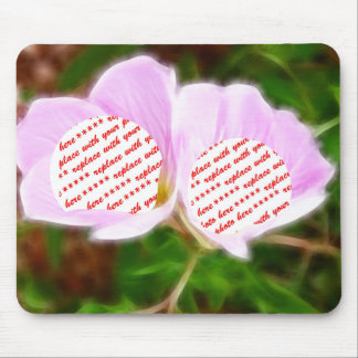 Pink Poppies Dual Photo Frame Mouse Pad