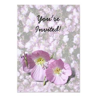 "Pink Poppies 5"" X 7"" Invitation Card"