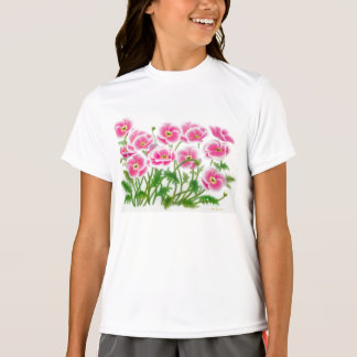 Pink Poppies Jersey Girls Shirt
