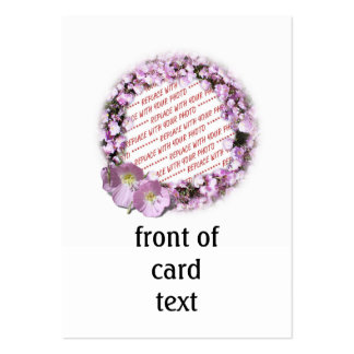 Pink Poppies Photo Frame Large Business Cards (Pack Of 100)