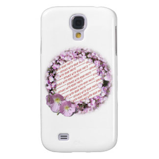 Pink Poppies Photo Frame Galaxy S4 Case
