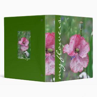 pink poppy 3 ring binder