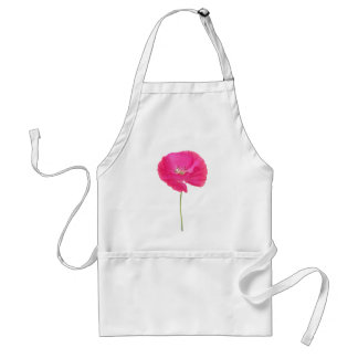 pink poppy adult apron