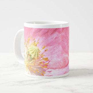 Pink Poppy and Fence Jumbo Mug