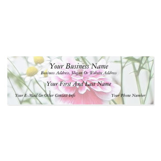 Pink Poppy And Feverfew Business Card