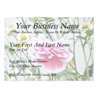 Pink Poppy And Feverfew Business Card Templates