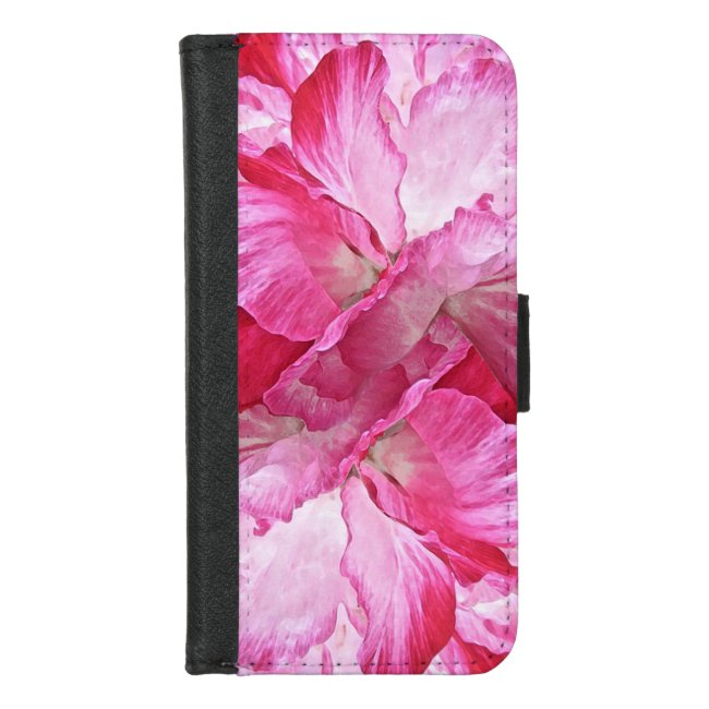 Pink Poppy Flower Floral iPhone 8/7 Wallet Case