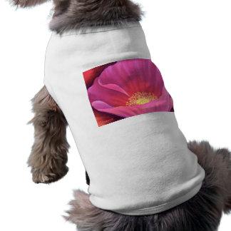 Pink Poppy Flower Painting Art - Multi Dog Clothing