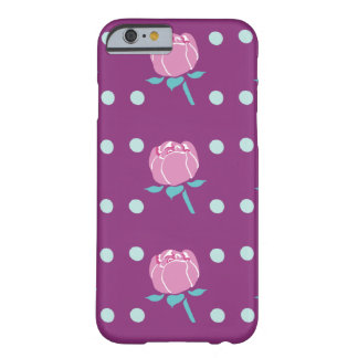 Pink Poppy Flower with Dark Pink Background Barely There iPhone 6 Case
