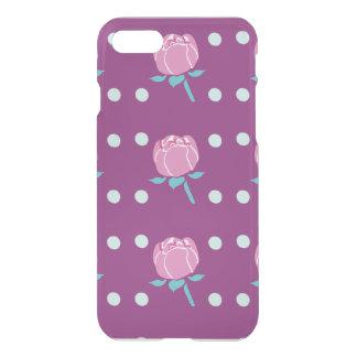 Pink Poppy Flower with Dark Pink Background iPhone 8/7 Case