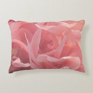 Pink Poppy Flowers Floral Accent Pillow