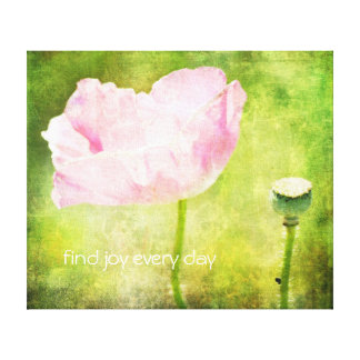 Pink Poppy Joy Canvas Print