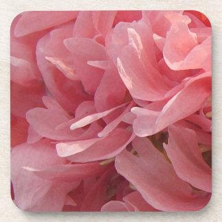 Pink Poppy Petals Beverage Coaster