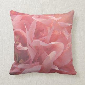 Pink Poppy Petals Throw Pillows
