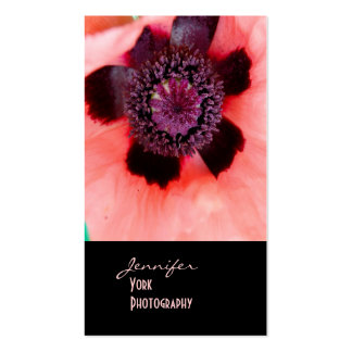 Pink poppy photography business cards
