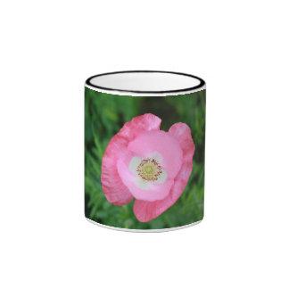 Pink Poppy Ringer Coffee Mug