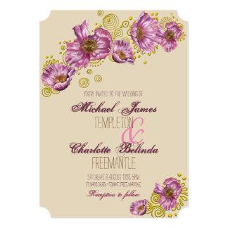 Pink Poppy Wedding Invitation