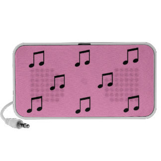 Pink portable Doodle Speakers musical
