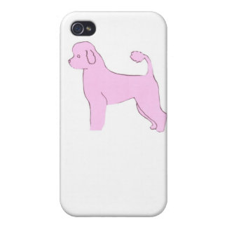 Pink Portuguese Water Dog iphone Hard Case