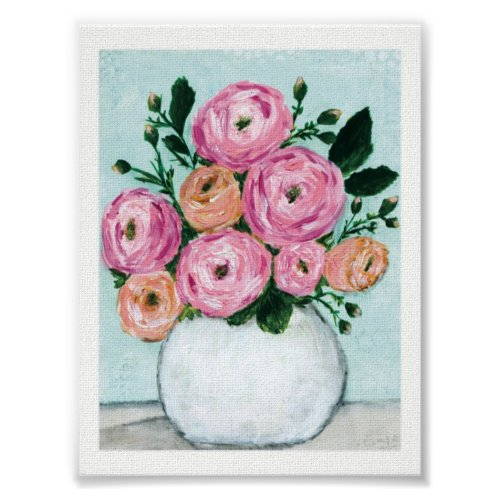 Pink Posey Canvas Print