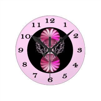Pink Posh Wall Clock